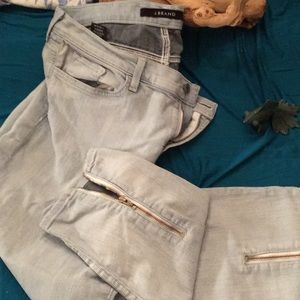 JBRAND JEANS ANKLE ZIPPER ON THE BACK